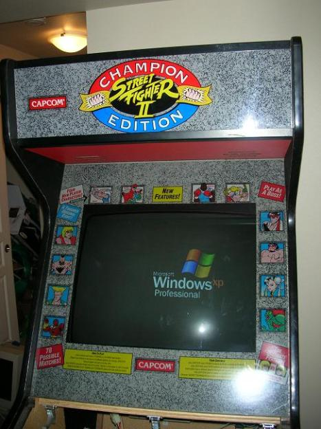 MAME cabinet booting windows